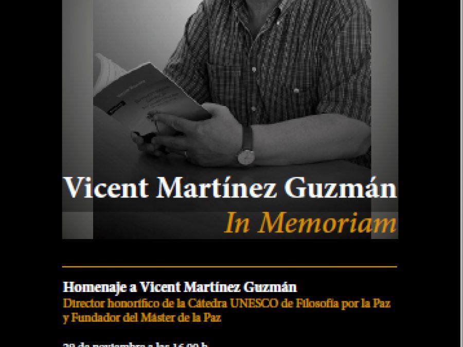 I Jornada de Desarrollo Social y Paz. Género e Identidades en Construcción. Vicent Martínez Guzmán In Memoriam