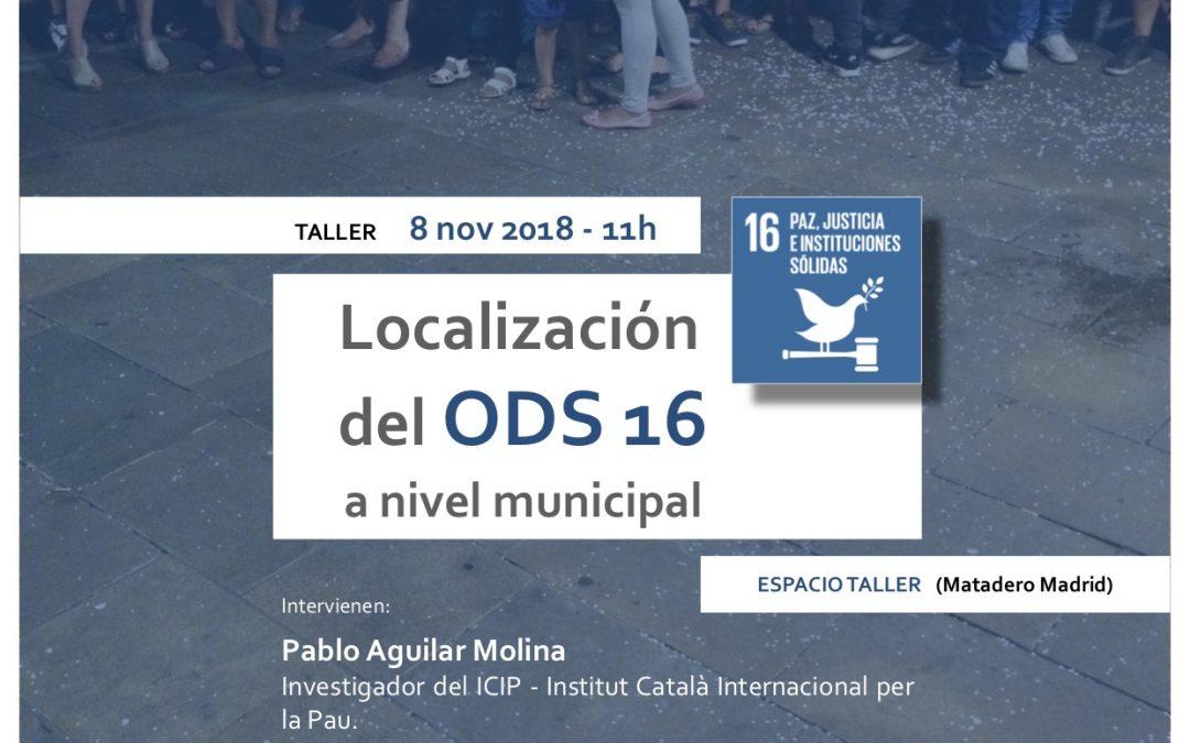 Localización del ODS 16 a nivel municipal