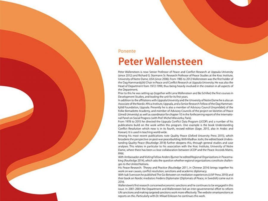 Seminario Permanente de Estudios Interdisciplinares: Quality Peaces, con Peter Wallensteen