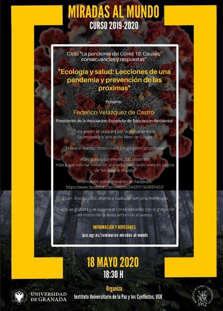 Ecología y salud: Lecciones de una pandemia y prevención de las próximas.